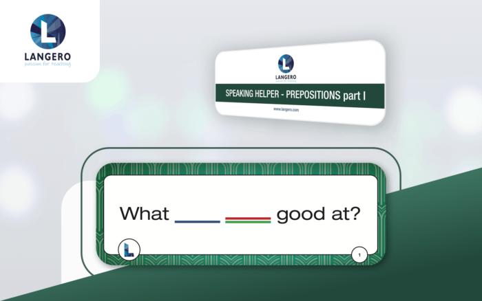 karty Speaking Helper - Prepositions part I